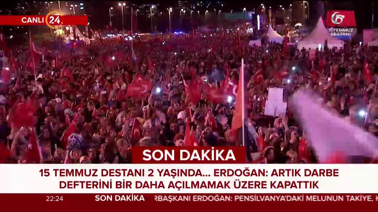 Başkan Erdoğan: Ülkemizin ve milletimizin geleceği aydınlıktır #MilletinZaferi