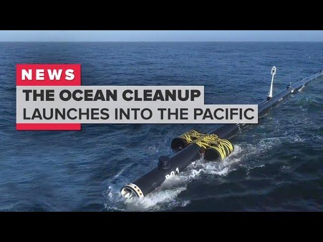 ניקוי האוקיינוס על ידי צינור גדול וגמיש