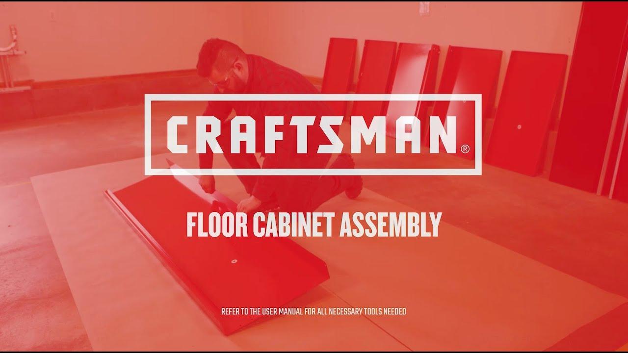 Freestanding Garage Storage Cabinet, Craftsman Floor Cabinet Assembly Instructions