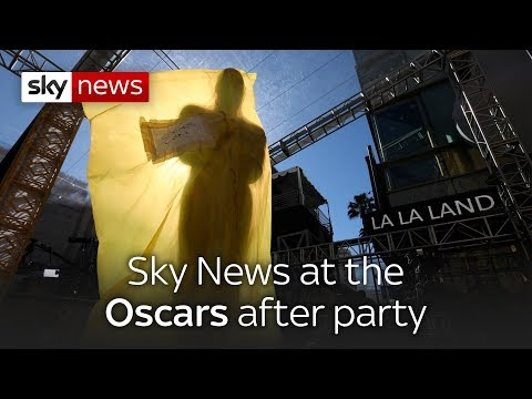 Sky News at the Oscars after party