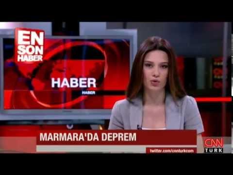 CNN TÜRK Spikeri Depreme Canlı yayında yakalandı