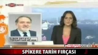 Prof. İlber Ortaylı'dan TRT Spikerine Azar - Çok Cahilsin Keşke Ölsen