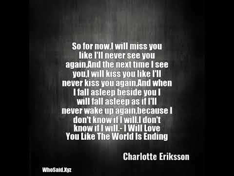 l will miss you