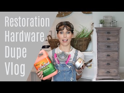 Weathered Gray Wood Stain Vlog | Restoration Hardware Stain DIY
