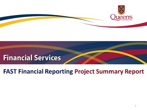 FAST Financial Reporting - Project Summary Report