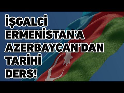 İşgalci Ermenistan'a Azerbaycan'dan