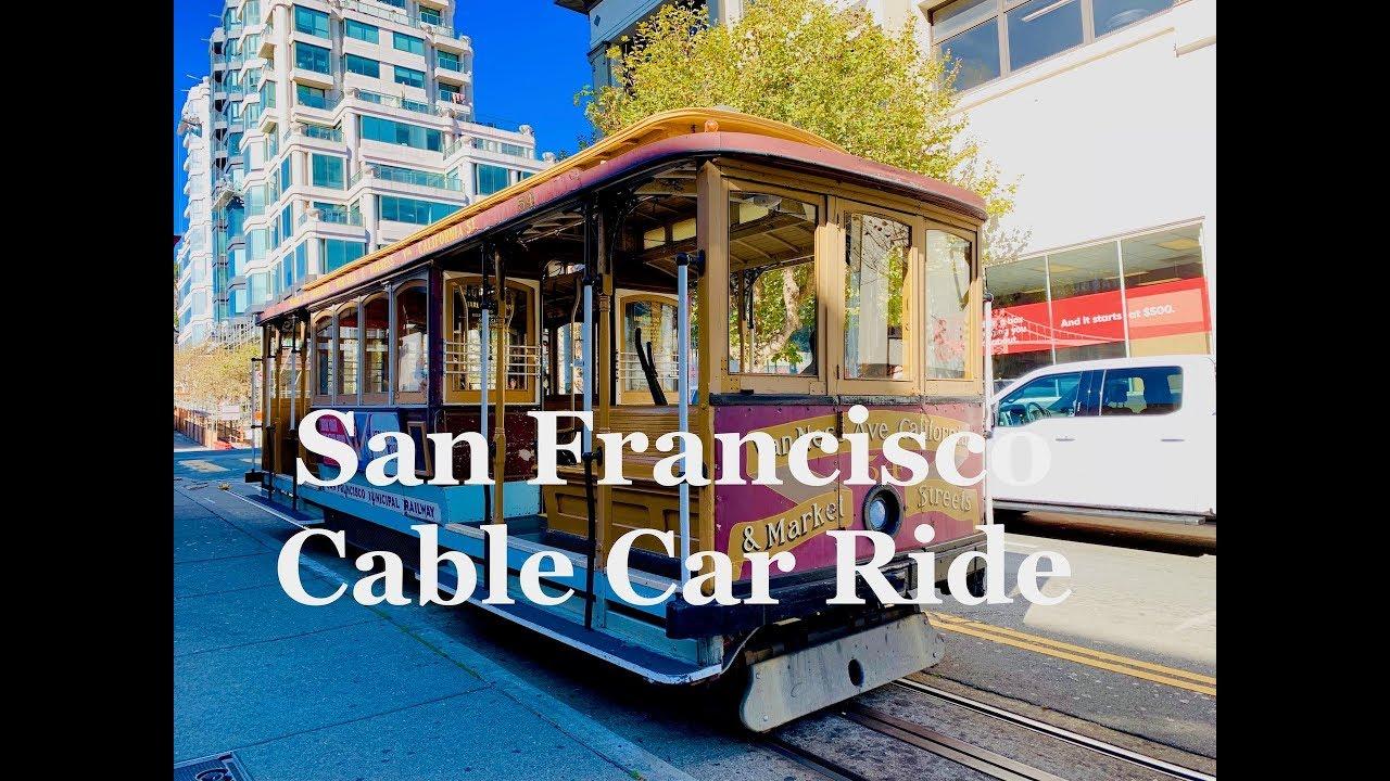 4K San Francisco Cable Car Ride - California/Van Ness Line 旧金山缆车