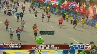 Boston Marathon explosions: The exact moment of the blasts