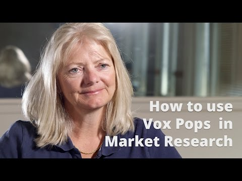 How to use Vox Pops in Market Research - Top Tips