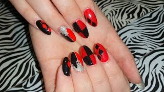 Acrylic Nails l Halloween Set 3 l Lady Harlequin l Nail Design
