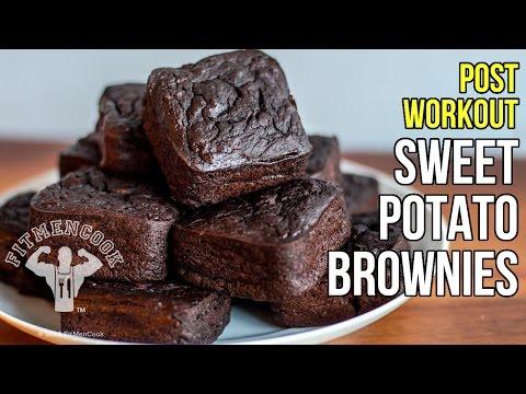 Post-Workout Sweet Potato Brownies for Meal Prep / Brownies de Batata