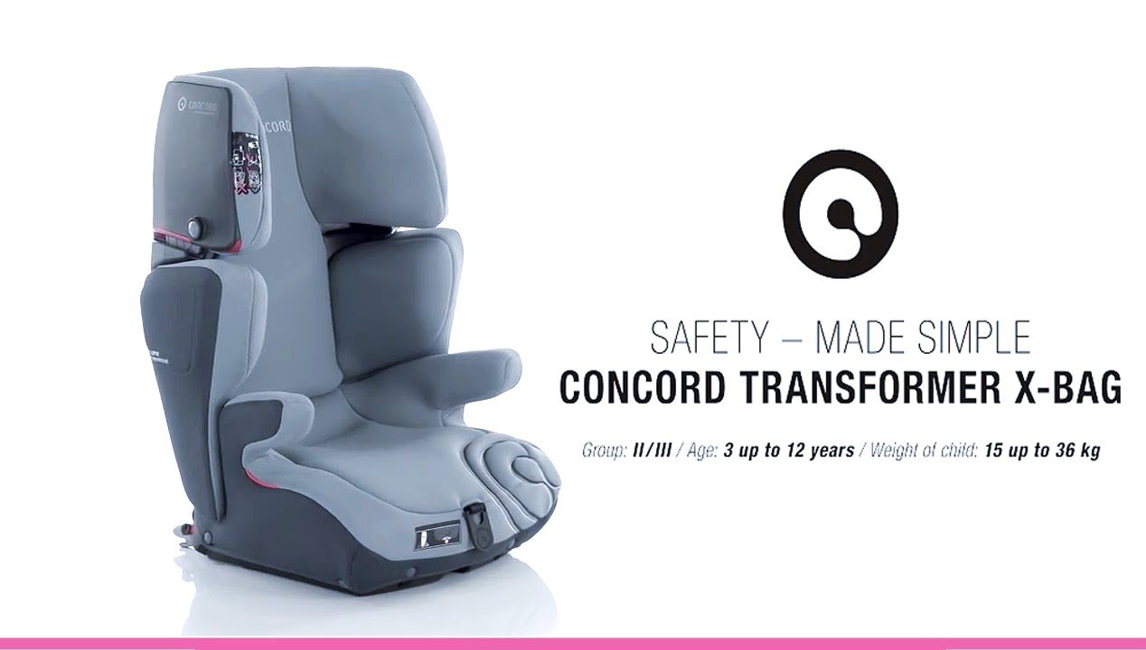 Concord Transformer X Bag Group 2 3 Car Seat Installation Video