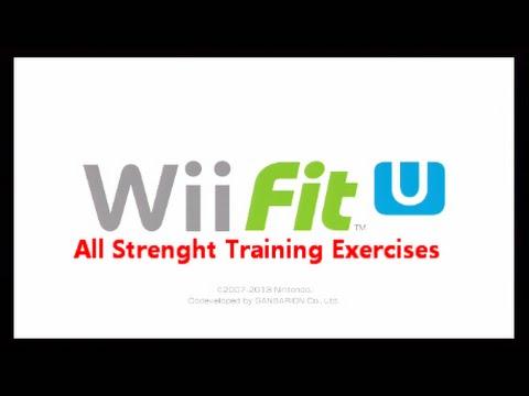 Wii Fit U: All Strength Training Exercises (Nintendo Wii U)
