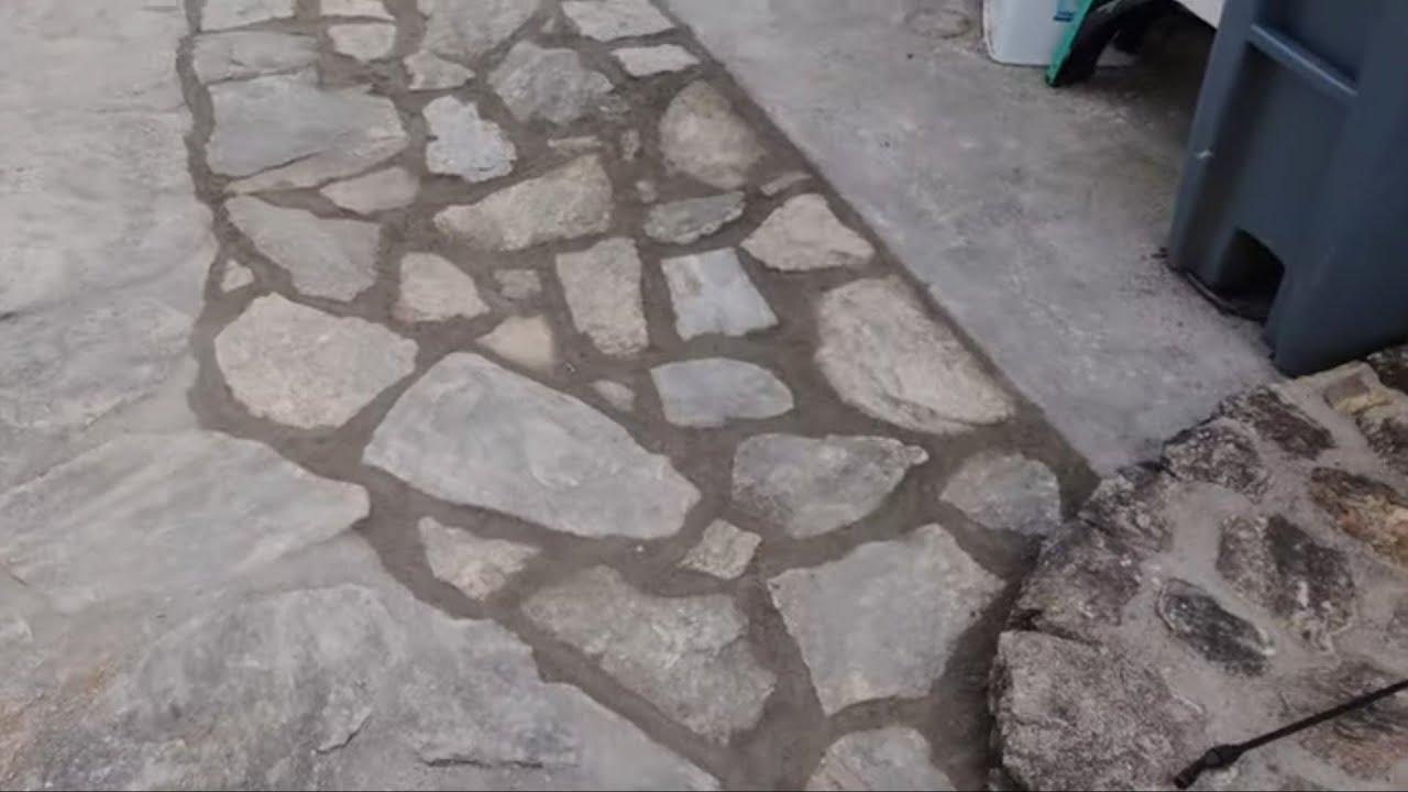 Download Reparacion de piso de piedra terminado