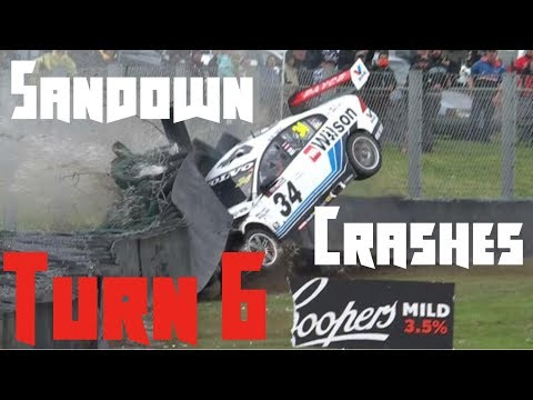 Sandown's Turn 6 Crash Compilation (Smallest to Biggest Crashes)