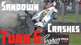 Sandown's Turn 6 Crash Compilation (Smallest to Biggest Crashes)