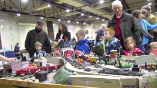 Watching the ACSG trains and playing with the accessories at the Great Train Expo