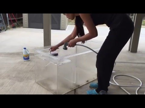 Cleaning a used sump