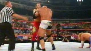 Goldberg and Booker T vs Chris Jericho and Cristian