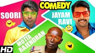 Jayam Ravi - Soori - Rajendran Comedy Scenes | Sakalakala Vallavan Appatakar Tamil Movie | Trisha