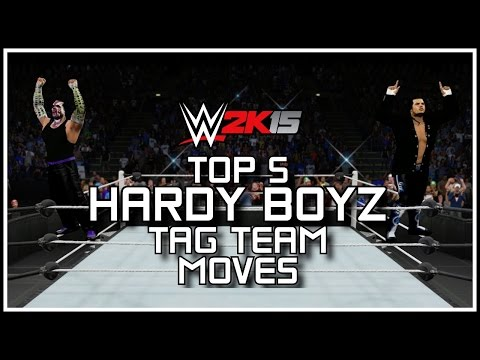 WWE 2K15 - Top 5 Hardy Boyz Tag Team Moves! (WWE 2K15 Countdown) [PS4/XB1]