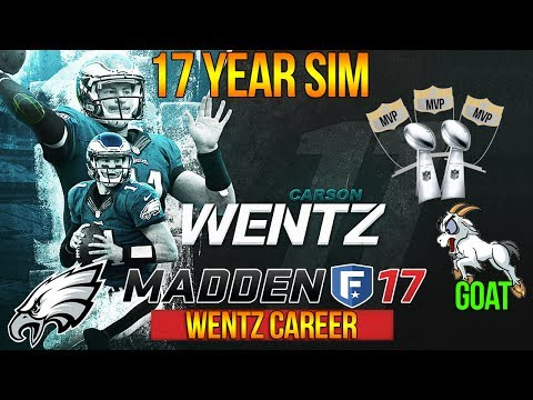 CARSON WENTZ = GREATEST QB IN NFL HISTORY | Madden 17 Eagles