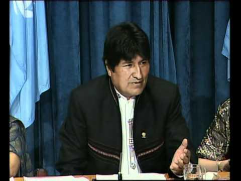 WORLDMAGNUM: EVO MORALES - BOLIVIA CLIMATE CHANGE U.N. (UNTV).mpg