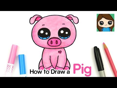 How To Draw A Baby Pig Easy | Beanie Boos