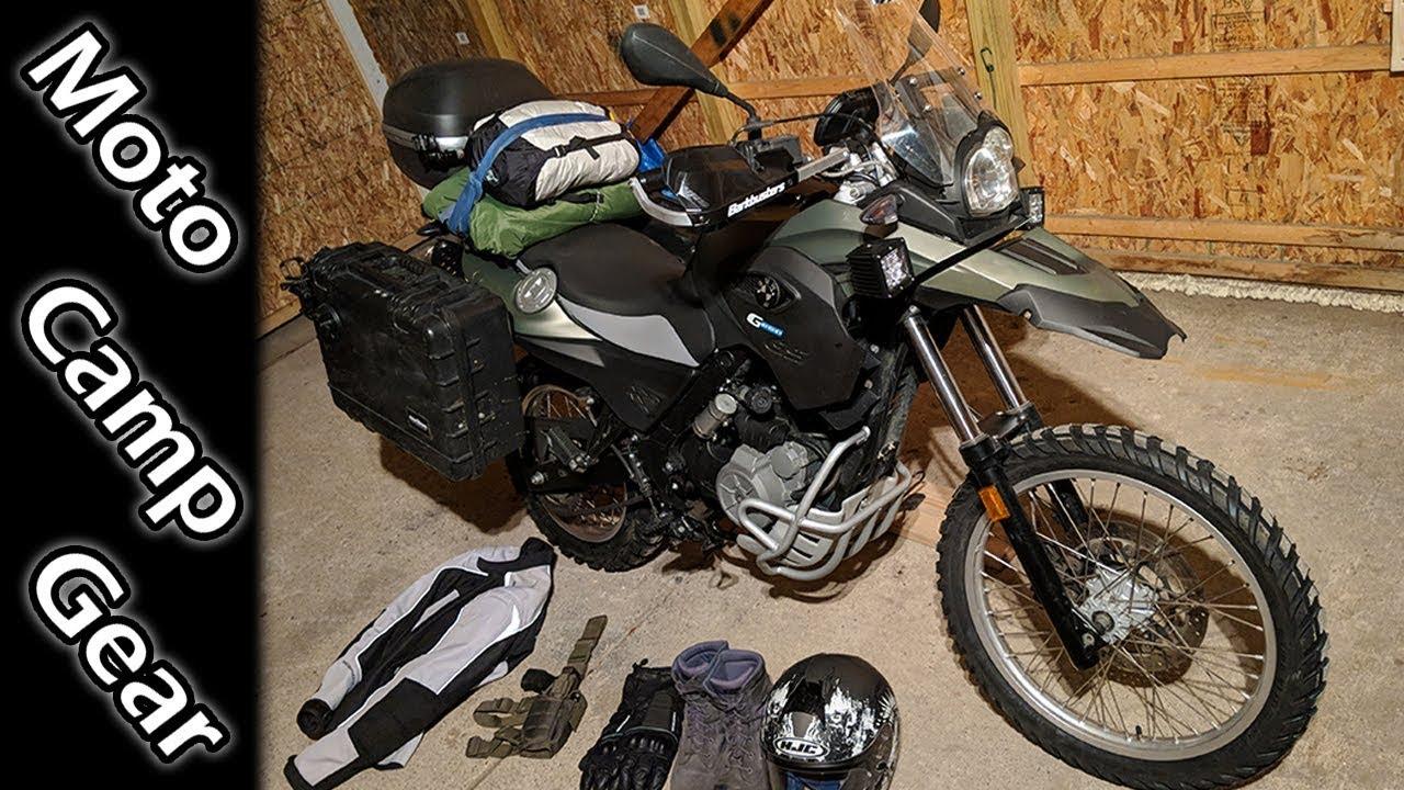 Motorcycle Winter Camp Gear Upgrades Bmw G650gs Sertao Youtube