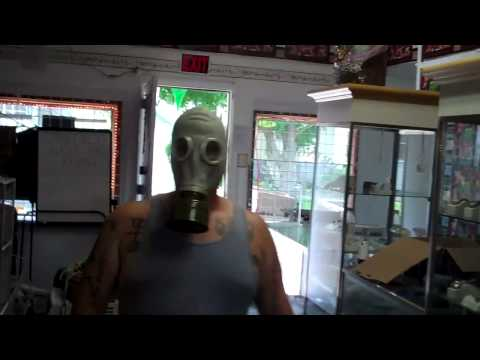 guy with gas mask on comes to springfield gold and resale