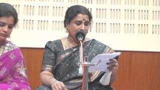 Dr.Nagavalli Nagaraj demonstrates Hindola raga by singing Telugu song in Raagaanuraaga