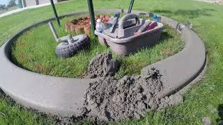 Landscape curbing - Trouble with tree rings when curbing?  Here's help!  Borderlineusa.com