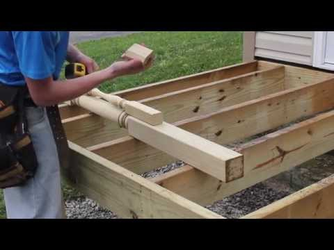How to Install Deck Posts from S&L Spindles