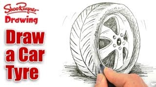 How to draw a Car Tire/Tyre - Spoken Tutorial