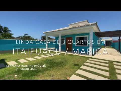 LINDÍSSIMA CASA COM 3 QUARTOS EM ITAIPUAÇU / MARICÁ - LEANDRO MARTINS IMOVEIS