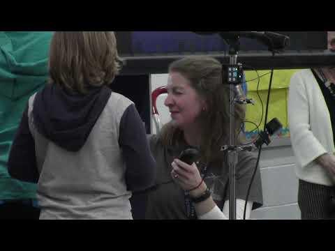 Antietam Elementary School students talk to ISS
