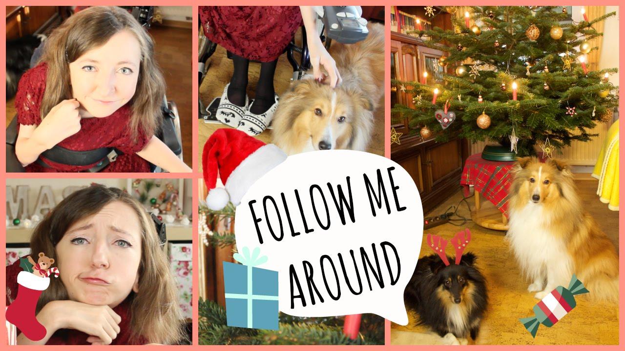 FOLLOW ME AROUND Weihnachten, Geschenke auspacken, Essen, Hunde in ...
