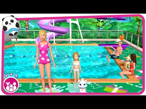 Barbie Dreamhouse Adventures Part 2 - Play Fun Dress Up, Cook, Dance and Pool Party Games for Kids