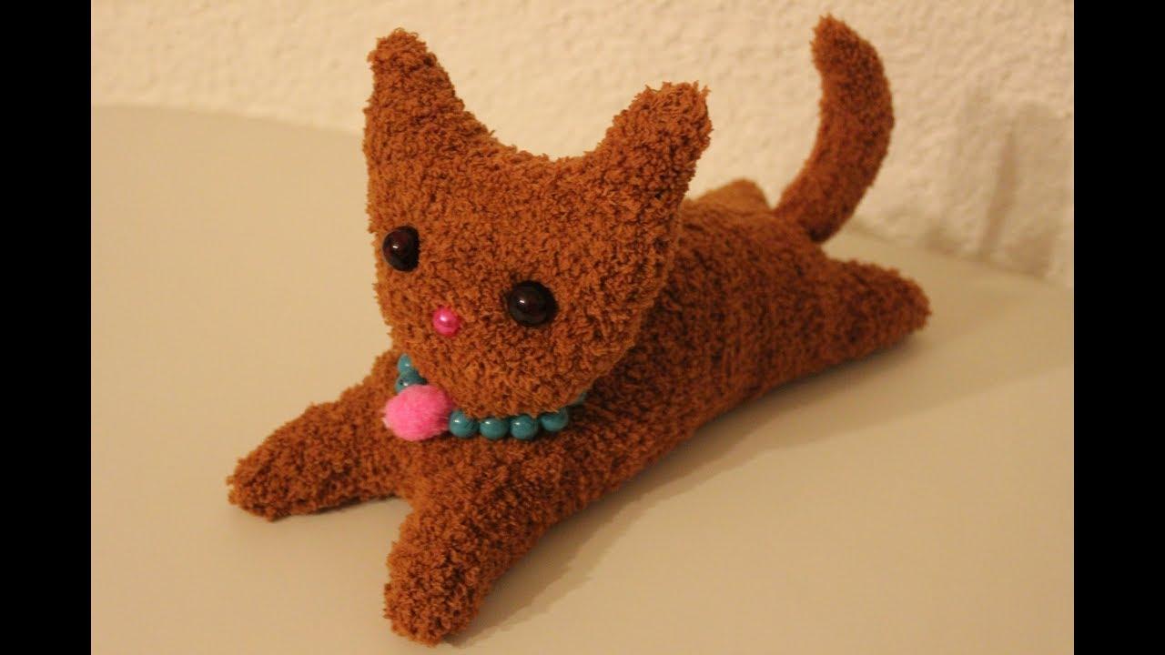 katze aus socken selber machen, diy katze aus kuschelsocken / diy cat made of cuddly socks - youtube, Design ideen