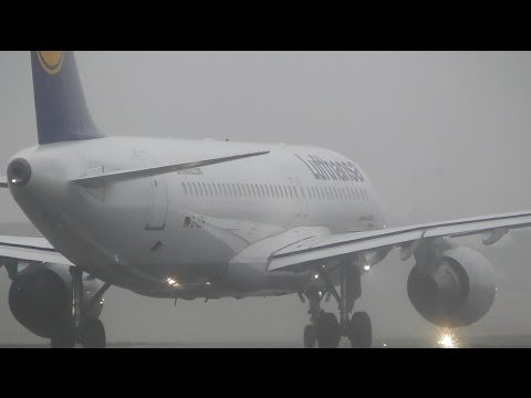 Foggy Plane Spotting at Birmingham Int