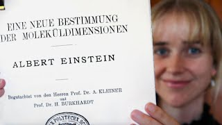 Einstein's PhD thesis