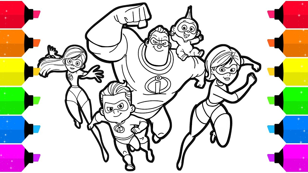 Incredibles  Coloring Pages Youtube