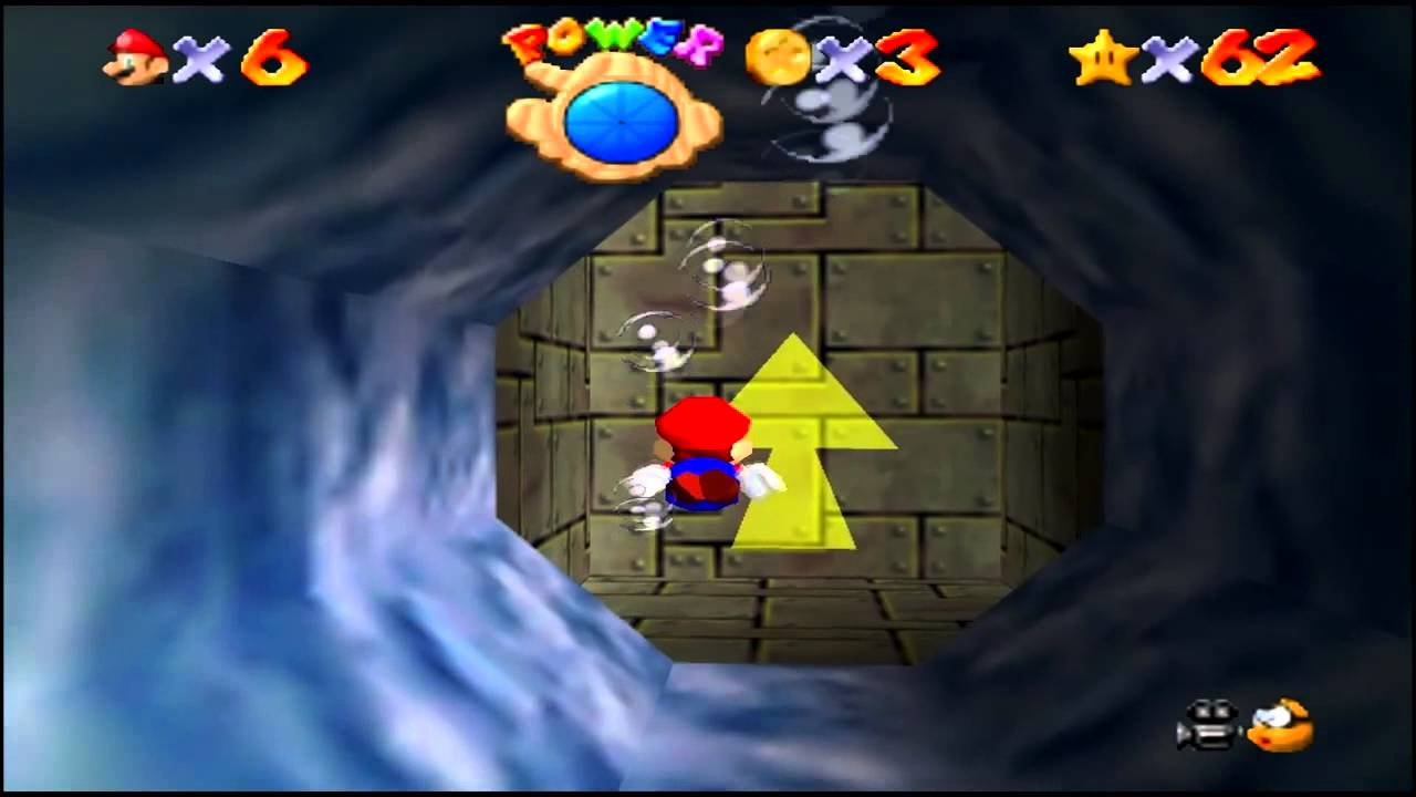 Super Mario 64 (N64) Dire Dire Docks Star #1 Board Bowser's Sub