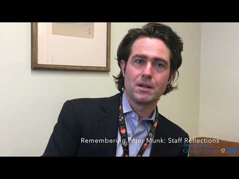 Remembering Peter Munk. Staff reflections with Dr. Patrick Lawler