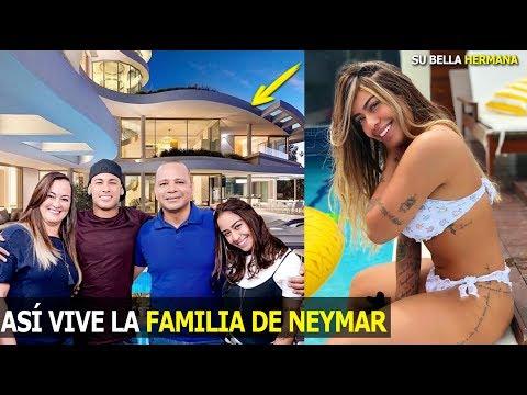 ASÍ VIVE LA FAMILIA DE NEYMAR, SON MILLONARIOS SU LINDA HERMANA,SU MADRE Y SU PADRE