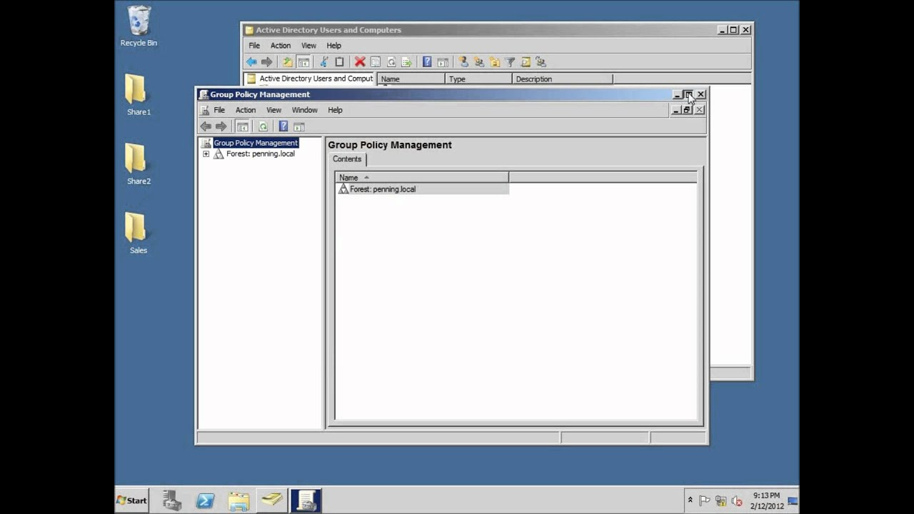Server 2008 Lesson 16 - Delegating Control of an Organizational Unit