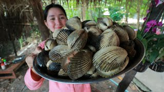 Amazing Ocean Clam Meat Cook Yellow Noodle - Cooking With Sros
