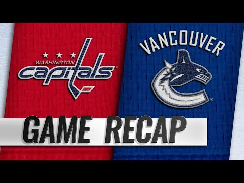 Ovechkin powers Caps past Canucks with four points