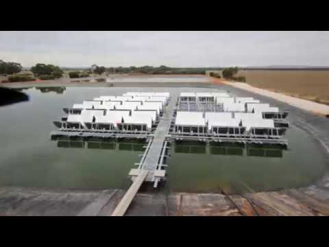 Jamestown Floating Solar   Construction Time Lapse HD