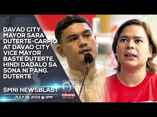 DAVAO CITY MAYOR SARA DUTERTE CARPIO AT DAVAO CITY VICE MAYOR BASTE DUTERTE, HINDI DADALO SA SONA